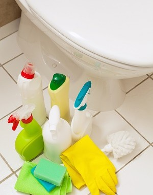 Methods of dealing with mold in the bathroom